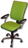 Otočná židle čalouněná koženkou